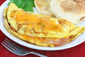 Omelet with Ham and Cheese — Stock Photo