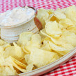 Potato Chips and Dip — Stock Photo