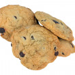 Isolated stack of Chocolate Chip Cookies - Stock Photo