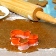 Royalty-Free Stock Photo: Making gingerbread cookies