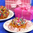 Foto Stock: Birthday Party Doughnut