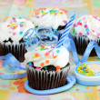 Cupcake for Baby Boy — Stock Photo