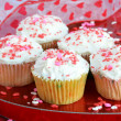 Stock Photo: Cupcakes for Valentine's Day