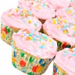 Pink Cupcakes on white — Stock Photo
