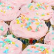 Pretty Pink Cupcakes — Stock Photo