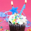 Royalty-Free Stock Photo: Birthday party cupcake