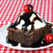 Brownie ice cream sundae — Stockfoto