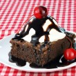 Stock Photo: Brownie Ice Cream Sundae