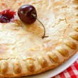 Cherry Pie with Fresh Cherry — Stock Photo