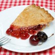 Cherry Pie and Cherries — Stock Photo