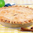 Whole Homemade Apple Pie - Stock Photo