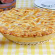 Peach Pie with Lattice Crust - Photo