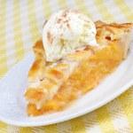 Постер, плакат: Peach Pie and Ice Cream