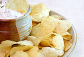 Chips and Dip — Stock Photo