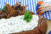 Spinach dip is bread loaf — Stock Photo
