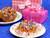 Rosquilla de fiesta de cumpleaños — Foto de Stock