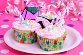 Pretty Pink Party Cupcakes — Stock Photo
