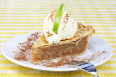Apple Pie and Ice Cream — Stock Photo