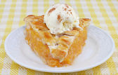 Peach Pie Ala Mode Front View — Stock Photo