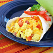 Stock Photo: breakfast egg burrito