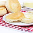 Dinner biscuits with melting butter. — Stock Photo #3014825