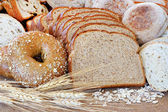 Assortedwhole grain breads — Stock Photo