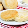 Fresh biscuit with melted butter - 图库照片