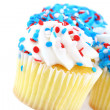 Festive cupcakes in red, white and blue — Stockfoto