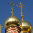 The big gold domes of orthodox church — Stock Photo #2733121