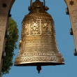 Delhi, the big religious copper bell — Stock Photo