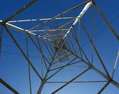 Electric pylon (bottom) — Stock Photo
