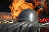 Detail of the flame of eternal fire — Stock Photo