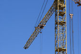 Elevating construction crane — Stock Photo