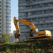 Heavy buildind excavator - Stock Photo