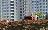 Heavy buildind tractor — Stock Photo