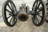 Medieval cannon to fire nuclei — Stock Photo