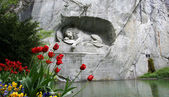 Lucerne, Switzerland, Lion Monument — Стоковое фото