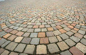 Background in the form of paving bricks (pavers) — 图库照片