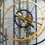 Clocks with the world's largest pendulum length of 30,2 m — Stock Photo #3405025