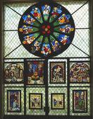 Switzerland, Geneva, stained glass in the museum of ceramics — Stock Photo