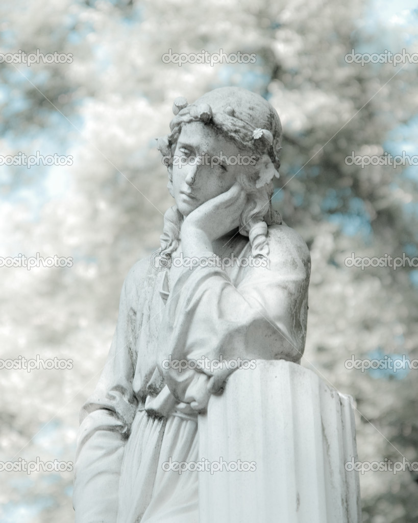 White statue in infrared look  Stock Photo #3048656