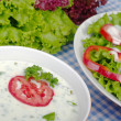 Yoghurt Salad Dressing - Stock Photo