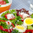 Salad with Yogurt Dressing - Stock Photo