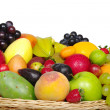 Stock Photo: Exotic Fruits in a Basket (Close-up)