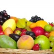 Exotic Fruits in a Basket (Close-up) — Stock Photo
