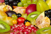 Exotic Fruits in a Basket — Stock Photo