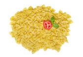 Farfalle with Tomato and Basil — Stock Photo