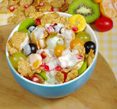 Fruits and Cereals with Joghurt — Stock Photo