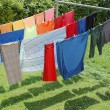 Stock Photo: Hanging wash to dry.