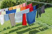 Hanging wash to dry. — Stock Photo
